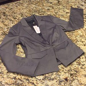 New Banana Republic Petite Smoked Gray Jacket